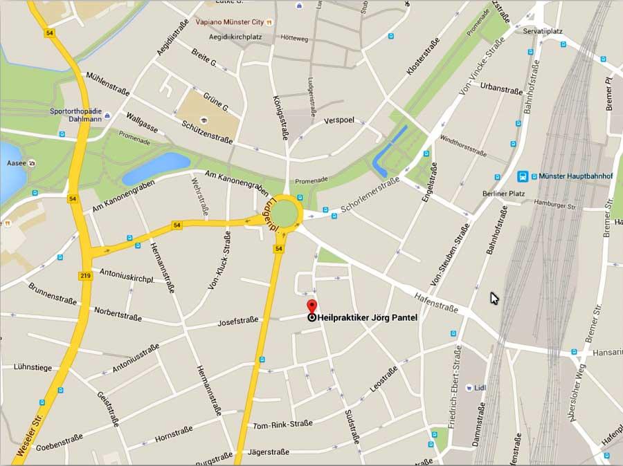 Anfahrt Map